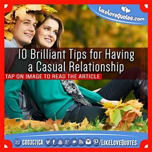 rules of casual dating relationships