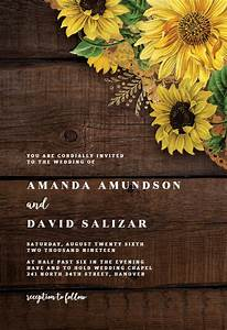 Save The Date Download Template Rustic Sunflowers Wedding Invitation Template Free