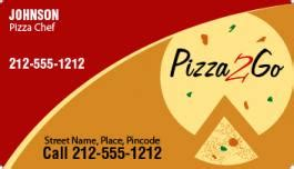 custom pizza business card magnets  mil