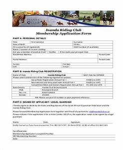 7 membership application form samples free sample With social club membership application form template