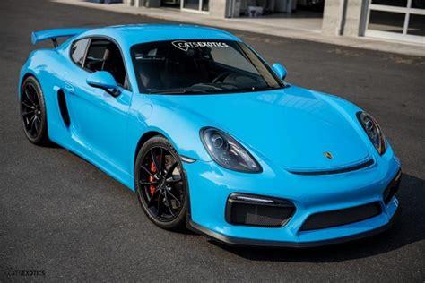 riviera blue  porsche cayman gt german cars