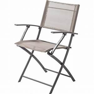 Fauteuil De Jardin Pliant : fauteuil de jardin en acier denver taupe leroy merlin ~ Dailycaller-alerts.com Idées de Décoration