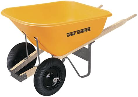 cubic foot poly wheelbarrow  dual wheels true