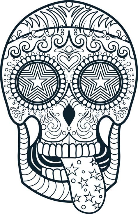sugar skull coloring page  kidspressmagazinecom