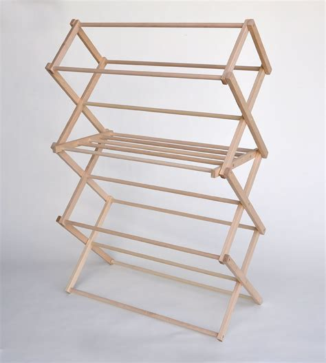 wooden clothes rack large drying rack