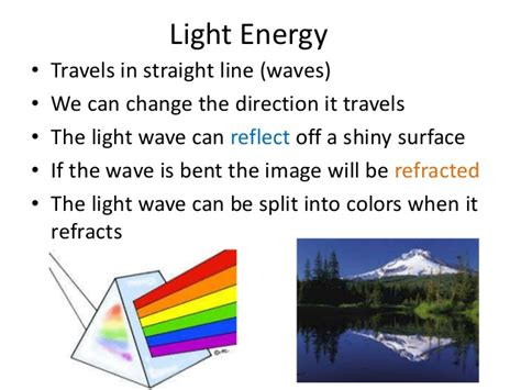what is light energy forms of energy overview powerpoint