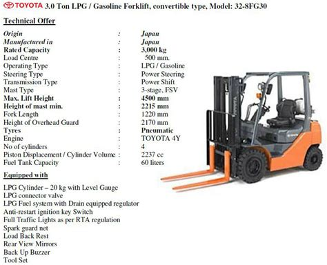 toyota forklift diesel electric forklifts  ton  ton