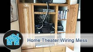 Home Theater Wiring Mess