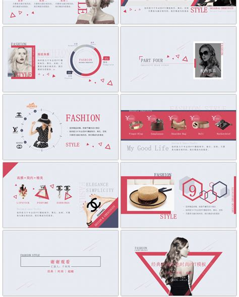 awesome classic fashion red fashion  template