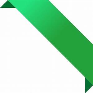CORNER RIBBON02 GREEN Vector Data | SVG(ベクトル):パブリック ドメイン ...