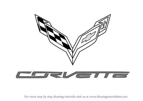learn   draw corvette logo brand logos step  step