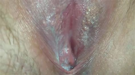 Creamy Pussy Pissing Close Up