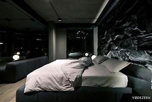 Trendy Dark Bachelor Apartment By YoDezeen InteriorZine