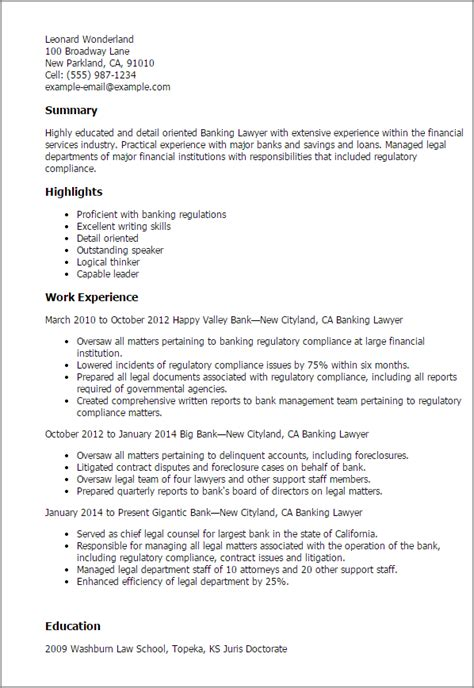 banking lawyer resume template best design tips