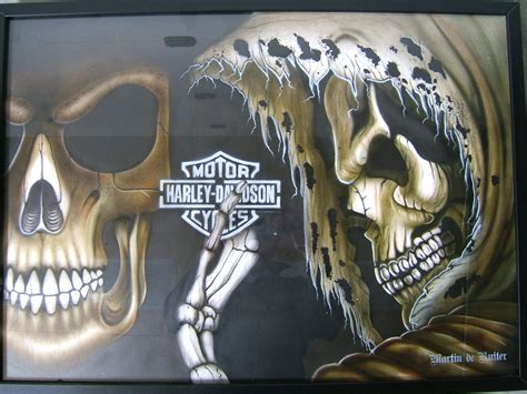 Harley Davidson Skulls By Martinderuiter On Deviantart