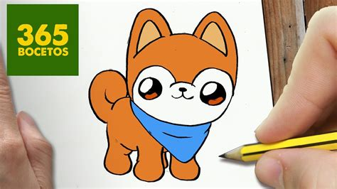 como dibujar perro akita kawaii paso a paso dibujos