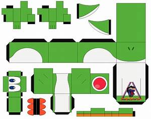 Yoshi Green Cubeecraft Papercraft By MarcoKobashigawa