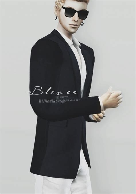 Blazer for males at Black le » Sims 4 Updates