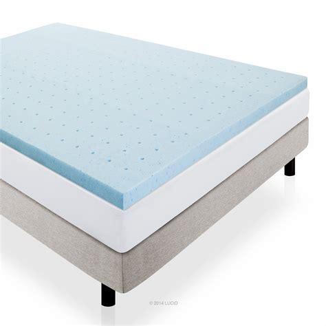 2 inch memory foam mattress topper lucid 2 inch gel infused ventilated memory foam mattress
