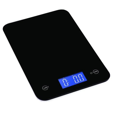 ozeri touch professional digital kitchen scale 18 lbs edition tempered glass in