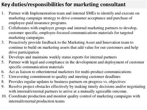 Marketing Consultant by Marketing Consultant Description