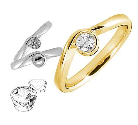 bezel setting diamond engagement ring bezel settings