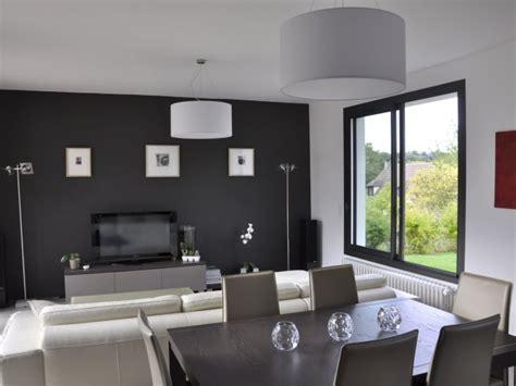 cuisine ouverte sur salle à manger séjour contemporain ouvert sur les trois pièces salon