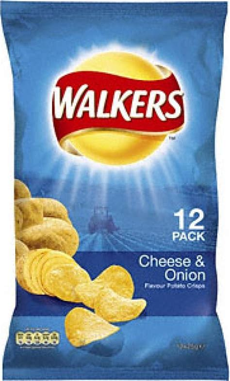 Walkers Cheese & Onion 12 Pk 338g | Approved Food
