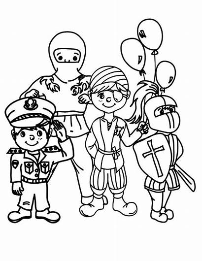 Carnival Coloring Pages Costume Animals Halloween Farsangi
