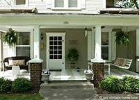 front porch plans 20 Front Porch Makeovers - How to Nest for Less™