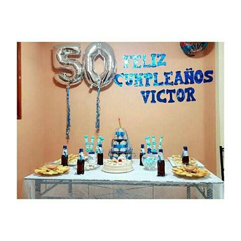 Cumpleaños 50 hombre pequeña decoración para un compartir