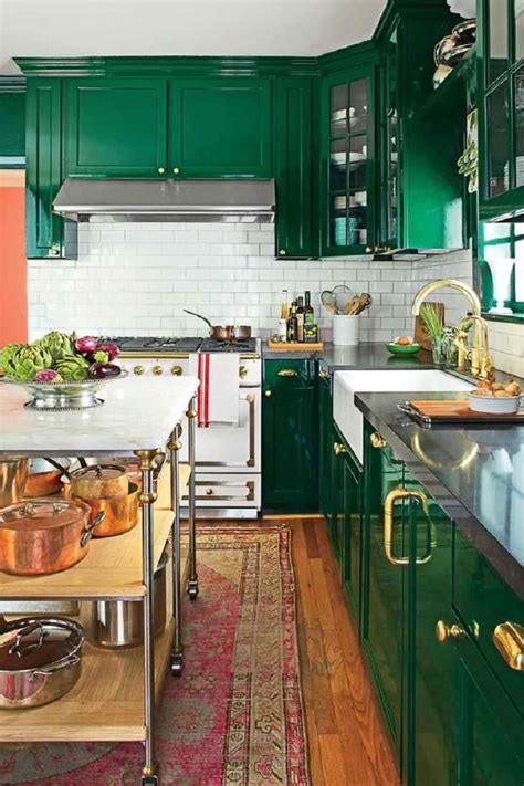 emerald green kitchen cabinets eclectic kitchen green