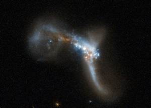 Hubble Views Two Galaxies Colliding
