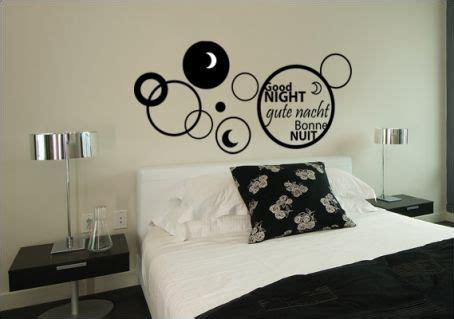 sticker phrase chambre stickers chambre stickers tête de lit bonne nuit
