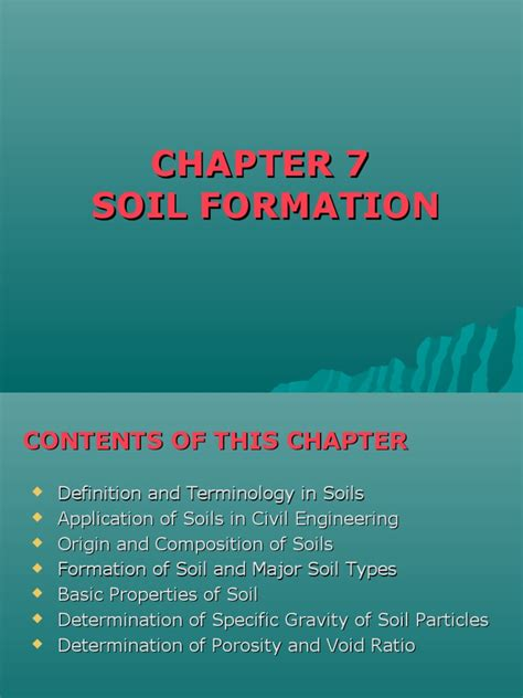 Soil basically results from the breakdown of parent rock through weathering processes i.e. Chapter 7 Soil Formation | Weathering | Soil | Free 30-day ...