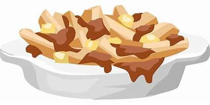 Poutine Plate Clipart Fries French Gravy Cracker