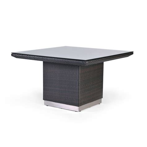caluco mirabella 48 inch square modern wicker patio dining