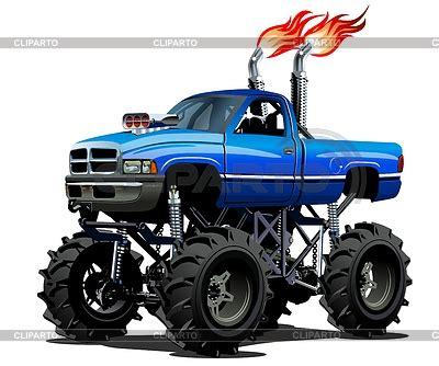 monster trucks races cartoon truck flames stock photos and vektor eps clipart cliparto