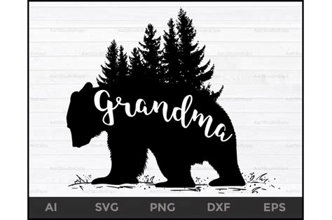 grandma bear svg files grandma bear svg bear svg grandma svg files  creative art