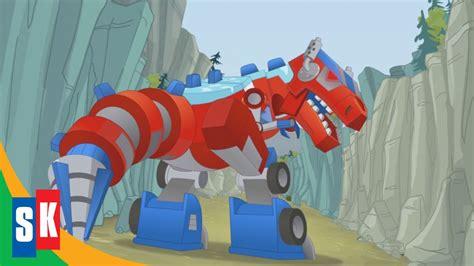 transformers rescue bots dinobots  optimus loses