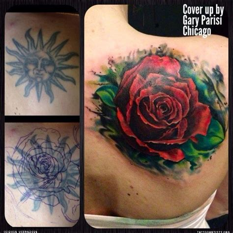 big red rose cover  tattoo ideas pinterest cover