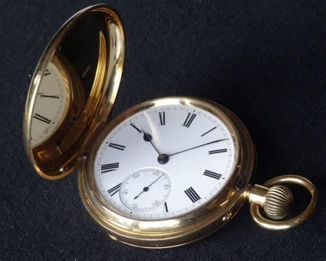 Antique 18ct Gold English Hunter Case Pocket Watch