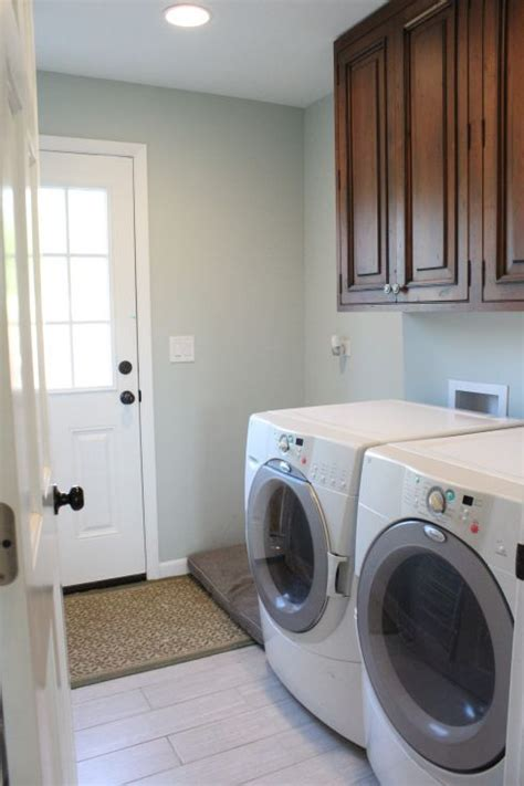 laundry room painted sea salt by sherwin williams our