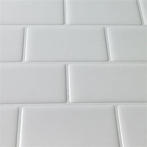 white peel and stick tile white subway peel and stick tile glass look subway