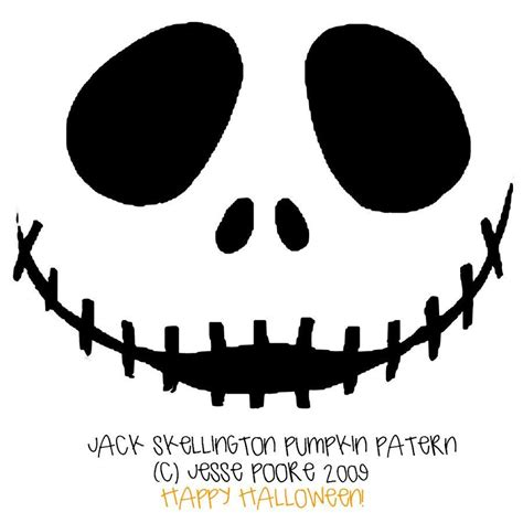 Nightmare Before Christmas Jack And Sally Pumpkin Stencil