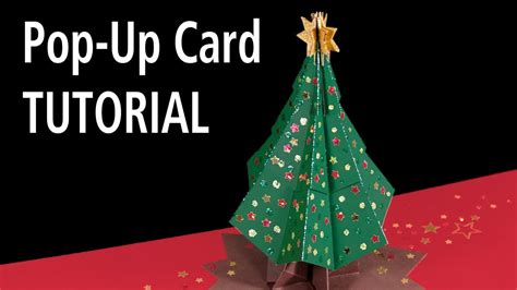 christmas tree pop  card tutorial youtube