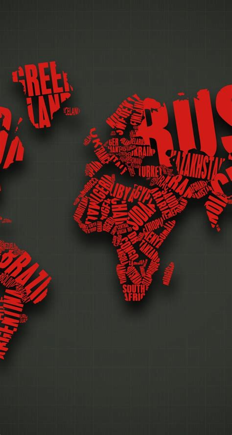 download red world map typography hd wallpaper for iphone 5 5s hdwallpapers net