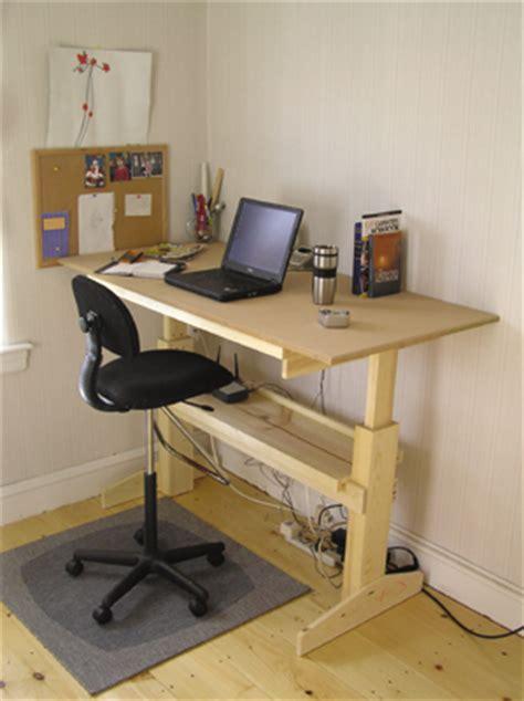 diy adjustable standing desk adjustable sit stand desk 9 ways to build guide patterns