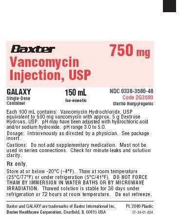 Vancomycin labels and packages - wikidoc