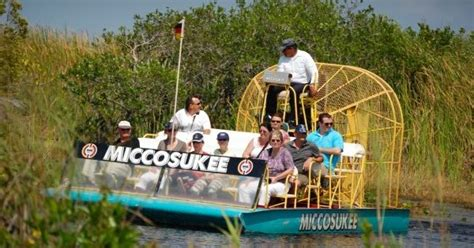 Everglades Boat Tours Near Fort Myers by Mustdo Miccosukee Indian Airboat Ride
